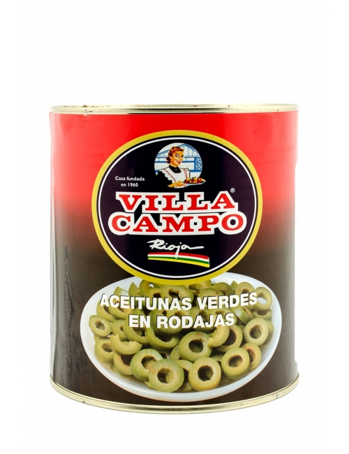 Aceitunas Verdes en Rodajas Lata 3 KG A-10