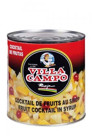 Cóctel de Frutas Primera en Almibar Ligero 14/16ºBrix 3KG Lata 5 Frutas