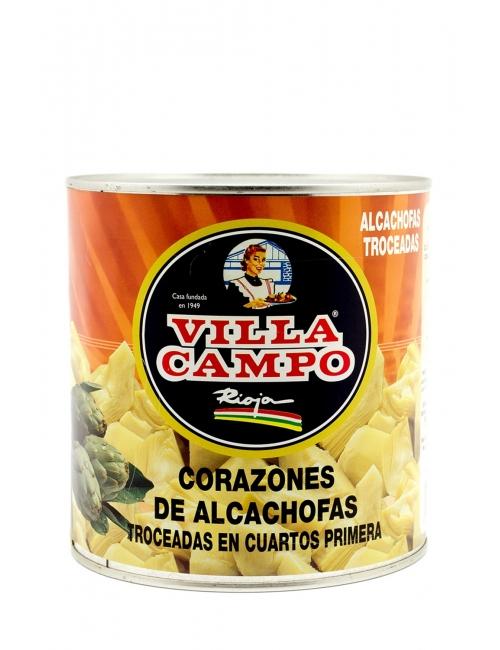 Alcachofa al Natural Cuarteada Primera 3kg Lata