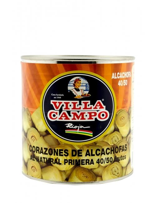 Corazones de Alcachofa Entera Primera 3kg Lata 40/50F
