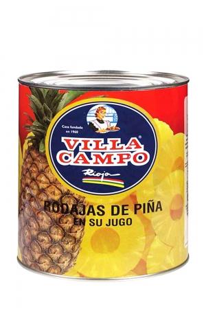 Piña en su Jugo 3KG Lata 50/60 Rodajas