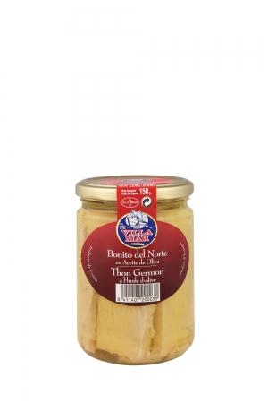 Lomos de Bonito del Norte en Aceite de Oliva Tarro 450ML