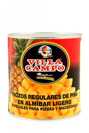Trozos de Piña en Almibar Ligero 14/16ºBrix 3KG A10 Lata