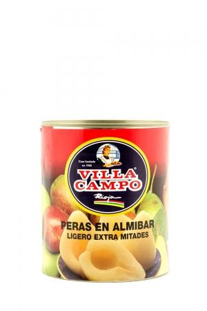 """Peras Extra en Almibar Ligero 14/16ºBrix 1KG Lata """"F.A."""" 6/10F"""