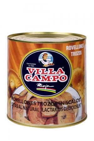Chunk Niscalo / Rovellon (Lactarius Deliciosus) 3kg Tin