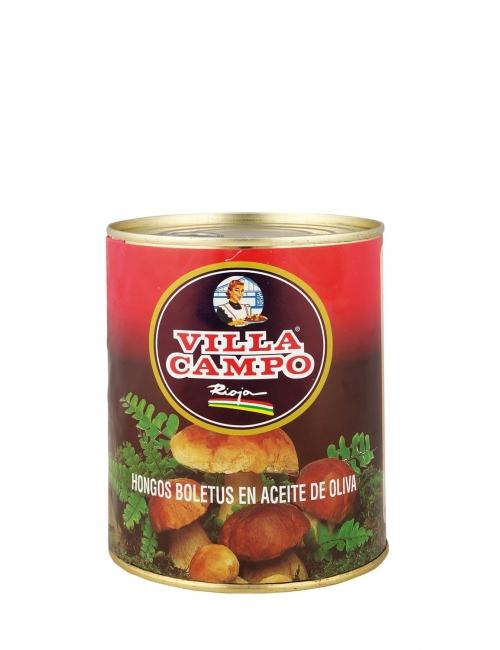 """Hongos """"BoletusEdulis"""" Troceados en Aceite de Oliva 1kg Lata """"F.A."""""""