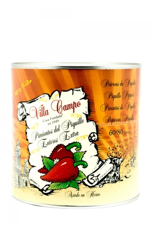 Whole Piquillo Pepper Extra 3kg Tin Count 60/80f