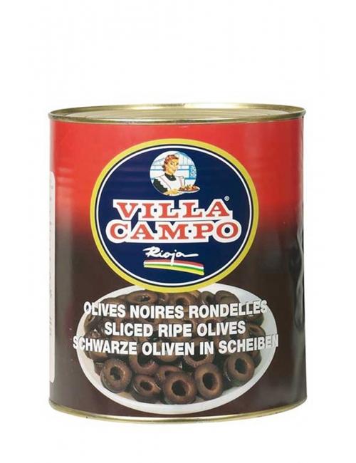 Aceitunas Negras en Rodajas Lata 3 KG A-10