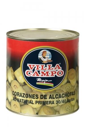 Corazones  de Alcachofa Entera Primera 3kg Lata 30/40F