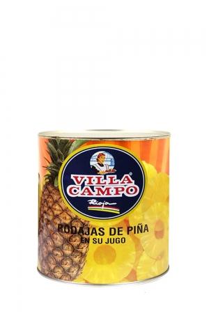 """Piña en su jugo 1KG Lata """"F.A."""" 8 Rodajas"""
