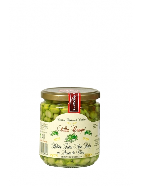 Broad Beans Minibaby in Olive Oil in Jar 370ml 7/12mm