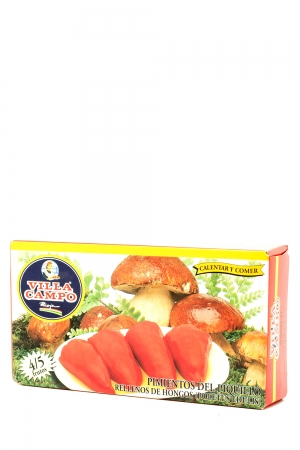Piquillo Peppers Stuffed of Fungus (Boletus Edulis) In Case in Fiesta Tin Count 4/5f