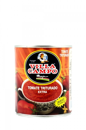 """Crushed Tomato Without Seeds 1kg Tin """"E.O."""" 6/8ºBrix"""