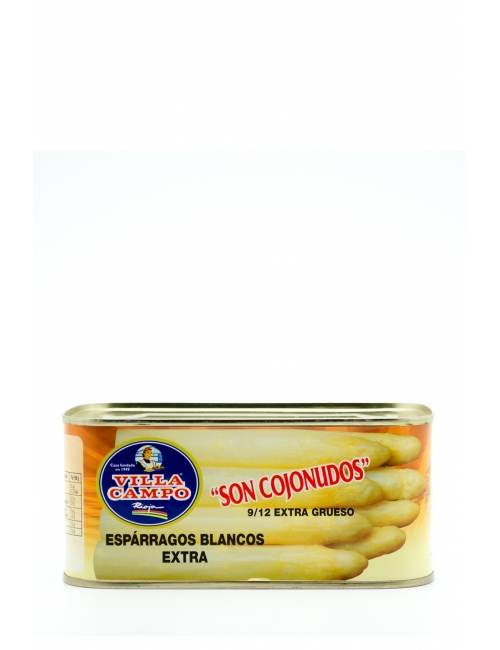 White Asparagus Extra 1kg Rectangular Tin Count 9/12f