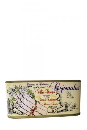 White Asparagus Tips 1kg Rectangular Count 20/30f
