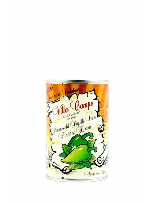 """Green Whole Piquillo Pepper Extra ½kg Tin """"E.O."""" Count 18/22f"""