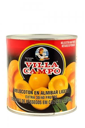 Melocoton Extra en Almibar Ligero 14/16ºBrix 3KG Lata 30/40F