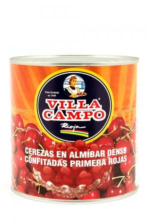 Cerezas Rojas Primera en Almibar Denso 30/32ºBrix Confitadas 3KG Lata