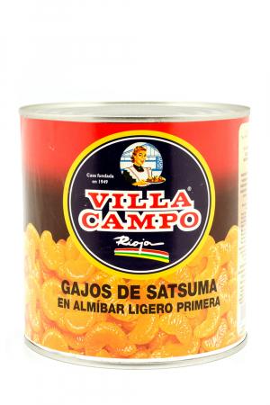 Gajos de Mandarina -Satsuma- Primera en Almibar Ligero 14/16ºBrix 3KG Lata