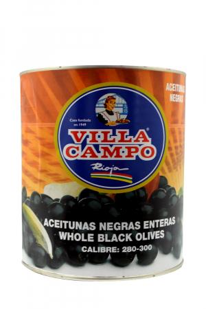 Aceitunas Negras Cacereñas con hueso Primera 3KG A10 Calibre 280/300 Lata