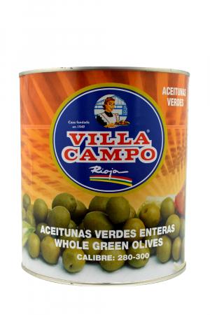 Aceitunas Verdes Manzanilla con hueso Primera 3KG A10 Calibre 280/300 Lata