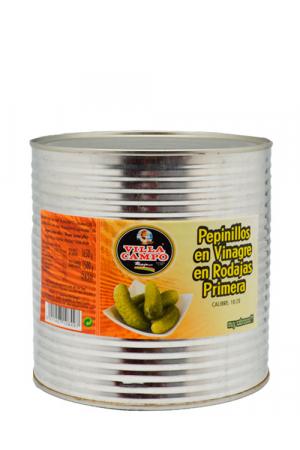 Pepinillos Rodajas Primera en Vinagre 3KG  Lata C10/20