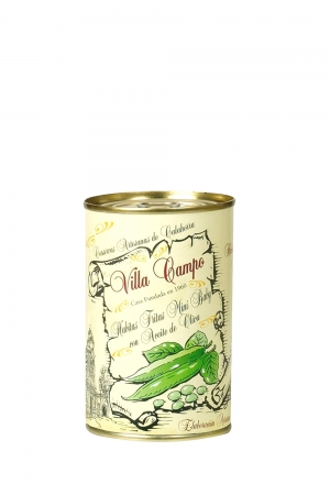 """Broad Beans Minibaby in Olive Oil 4/11mm ½kg Tin """"E.O."""""""