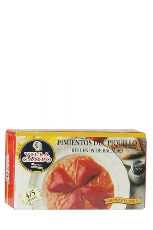 Piquillo Peppers Stuffed of Cod in Case in Fiesta Tin Count 4/5f